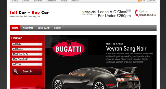 sell car online website