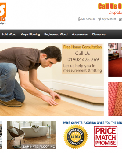 Carpet Flooring Wolverhampton website is Top Ten on GOOGLE