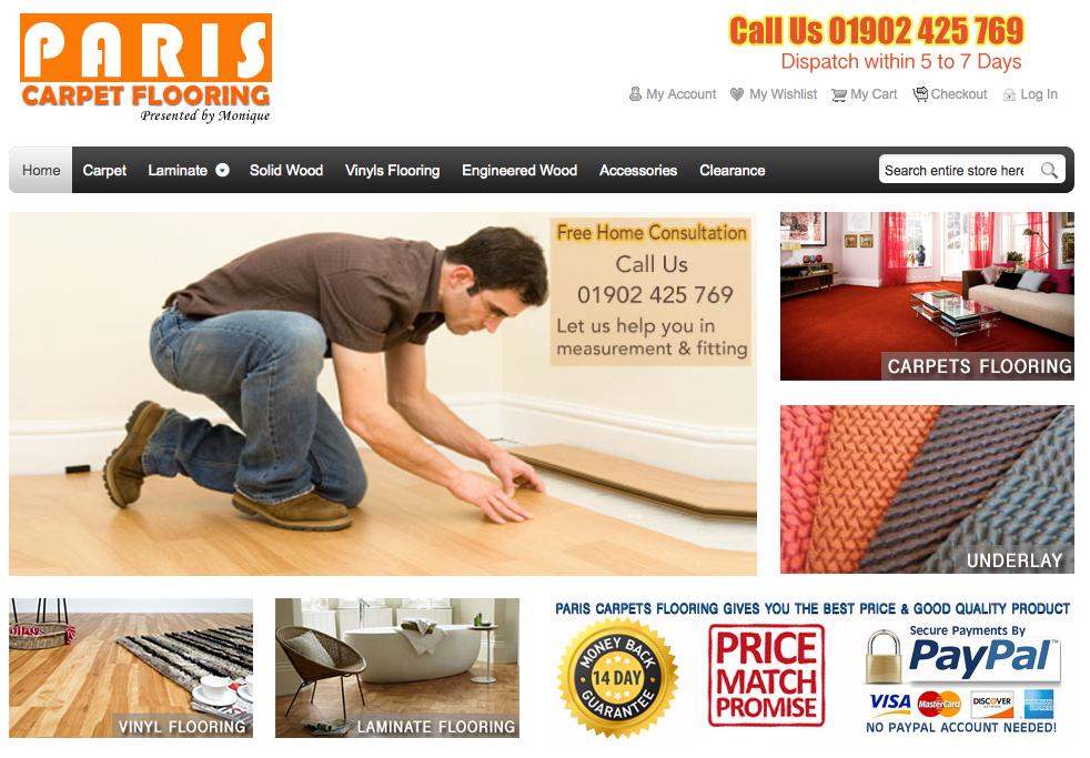 Carpet Flooring Wolverhampton website is Top Ten on GOOGLE